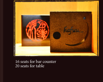 16 seats for bar counter 20 seats for table
